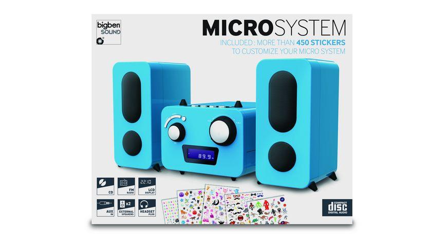 BIGBEN Stereo Music Center MCD11 - Kids [blue]