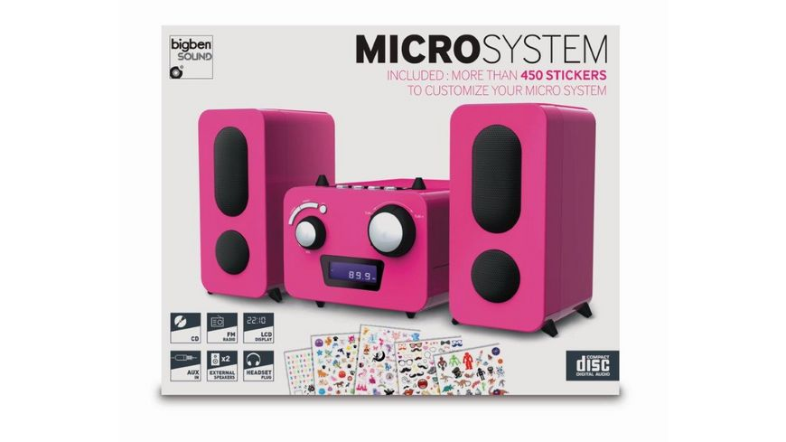 BIGBEN Stereo Music Center MCD11 - Kids [pink]
