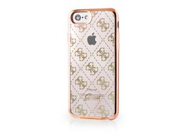 GUESS Cover 4G transparent gold IPH7
