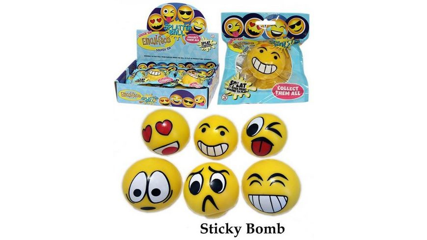 Fun Trading Emoij Splat Ball sortiert
