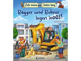 Buch Loewe Zieh meine Seiten lang Bagger und Bohrer legen los
