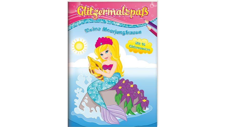 Buch Kids Concepts Glitzermalspass Meine Meerjungfrauen
