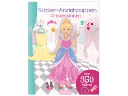 Buch Ars edition Sticker Anziehpuppen Prinzessinnen