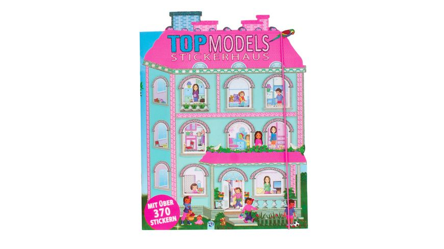 Buch Troetsch Verlag Kreativheft Topmodels Stickerhaus