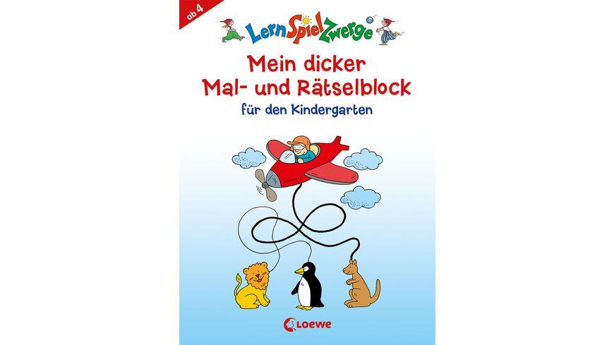 Buch Loewe Mein dicker Mal und Raetselblock fuer den Kindergarten