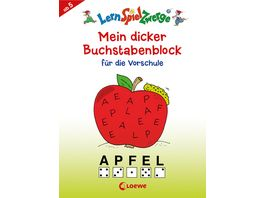 Buch Loewe Mein dicker Buchstabenblock fuer die Vorschule