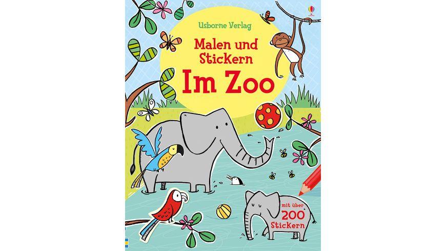 Malen und Stickern Im Zoo