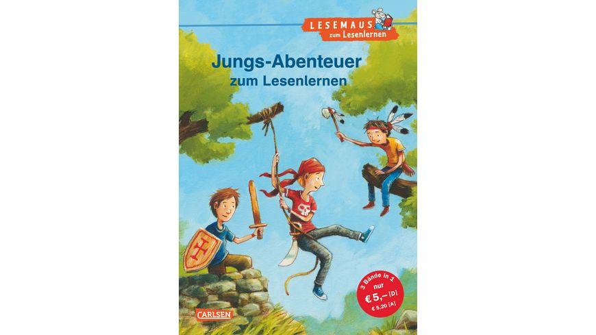 LESEMAUS zum Lesenlernen Sammelbaende Jungs Abenteuer zum Lesenlernen