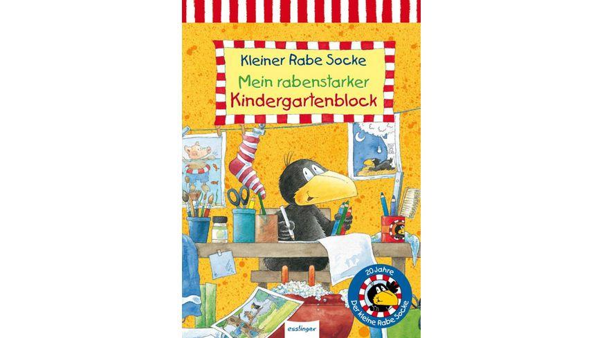 Buch Esslinger Verlag Der kleine Rabe Socke Mein rabenstarker Kindergartenblock