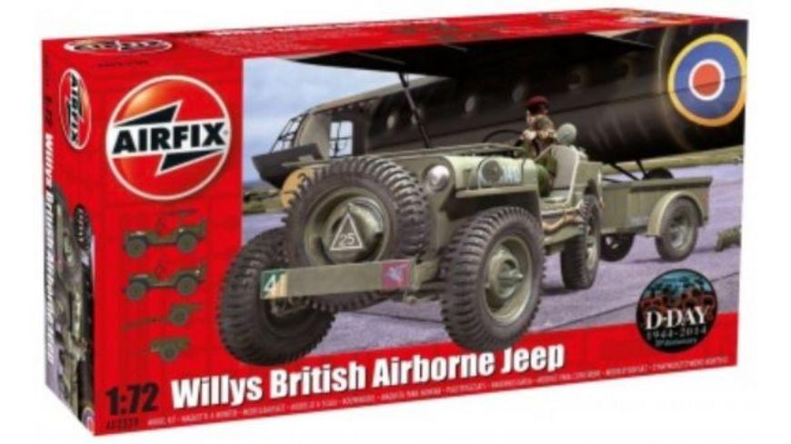 Airfix 1502339 Modellbausatz Willys Jeep Trailer 6PDR Gun 1 72