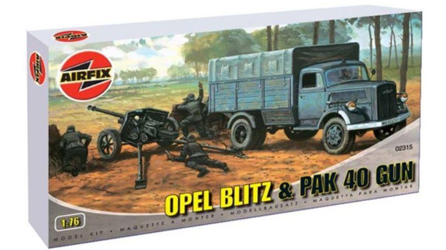 Airfix 1502315 Modellbausatz Opel Blitz PAK 40 Gun 1 76