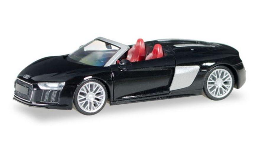 Herpa 038690 Audi R8 Spyder Mythosschwarz Perleffekt