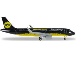 Herpa 529600 Eurowings Airbus A320 BVB Mannschaftsairbus