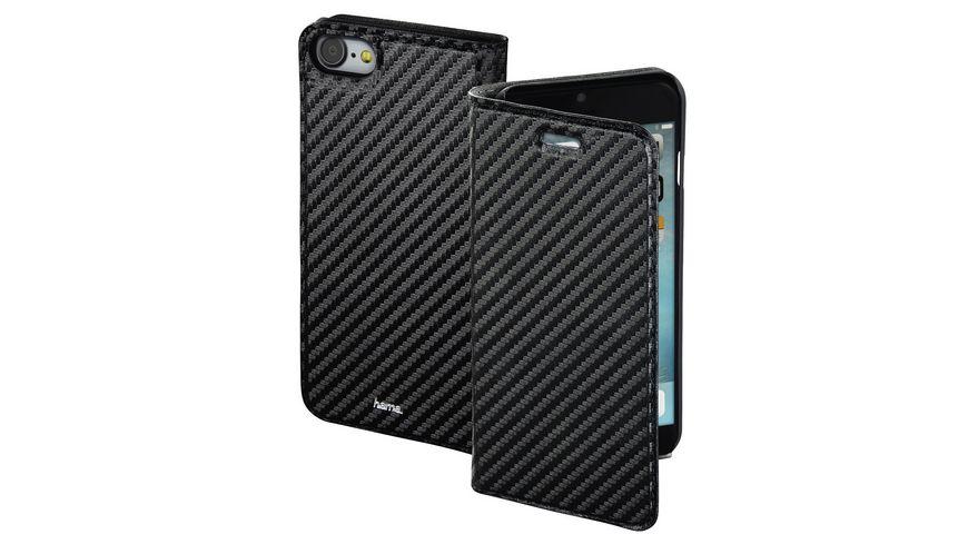 Booklet Guard Case Carbon fuer Apple iPhone 7 Schwarz