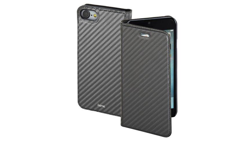 Booklet Guard Case Carbon fuer Apple iPhone 7 Grau