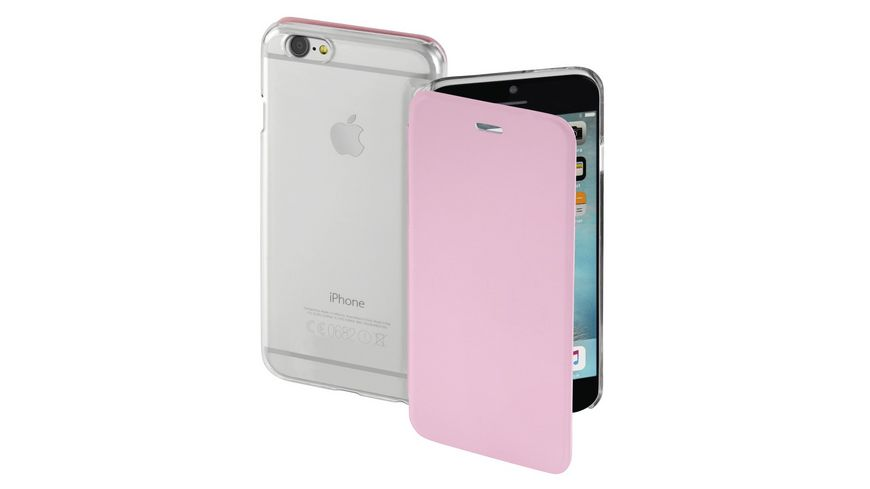 Booklet Clear fuer Apple iPhone 7 Rosa