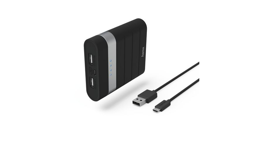 Power Pack Soft Touch 10400 mAh Schwarz