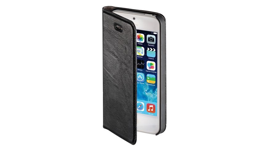 Booklet Guard Case fuer Apple iPhone 5 5s SE Schwarz