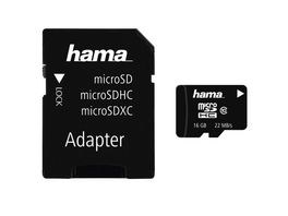 Hama microSDHC 16GB Class 10 22MB s Adapter Mobile