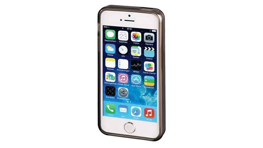Handy Cover Crystal fuer Apple iPhone 5 5s SE Grau