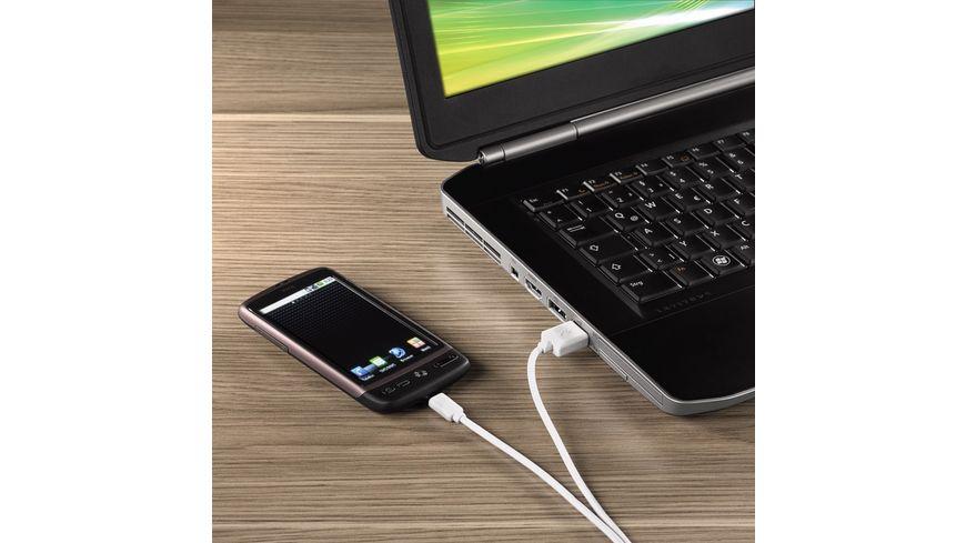 Hama Lade Datenkabel Micro USB 1 4 m Weiss