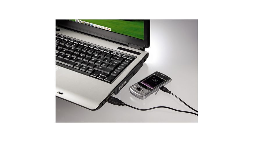 Hama Lade Datenkabel Micro USB 1 4 m Schwarz