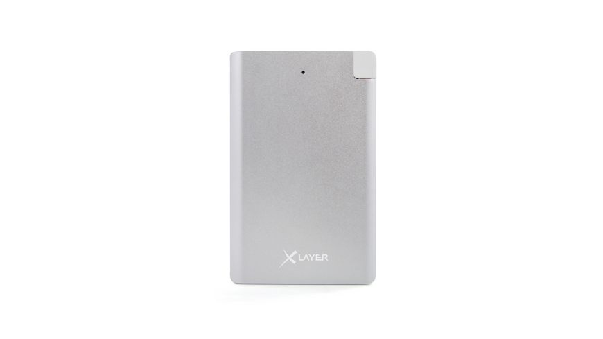 Zusatzakku XLayer Powerbank Pocket PRO Polymer Aluminium 2500mAh Smartphones Tablets