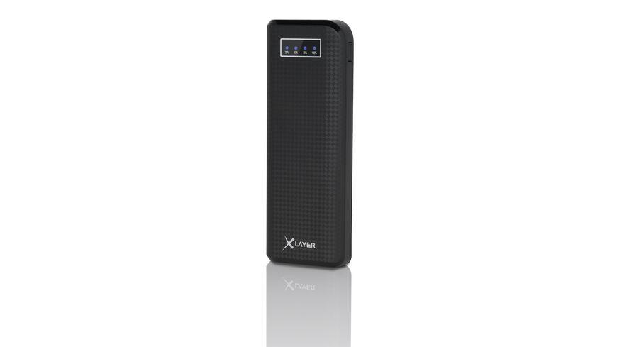 Zusatzakku XLayer Powerbank Carbon Black 15000mAh Smartphones Tablets