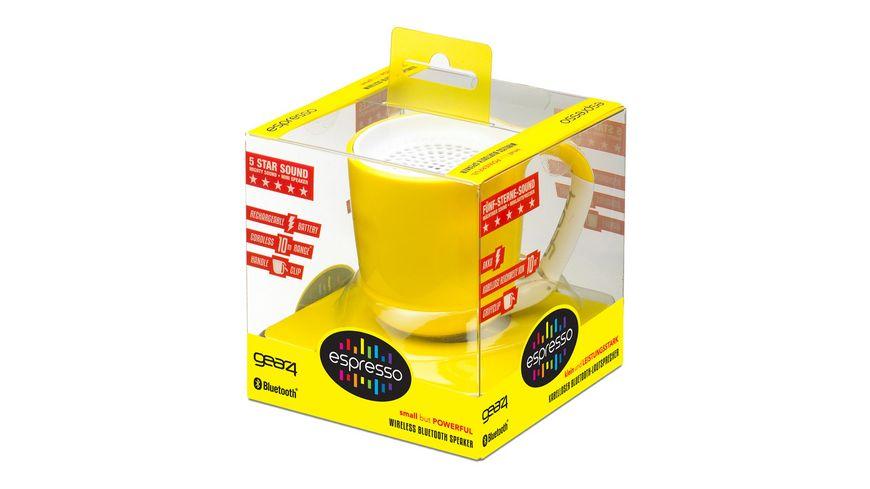Audiosystem GEAR4 Espresso Bluetooth Yellow