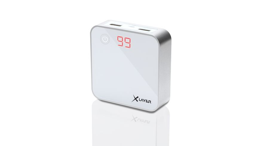 Zusatzakku XLayer Powerbank X Charger White 6000mAh Smartphones Tablets
