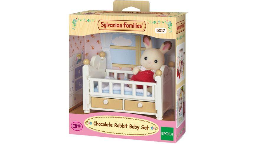 Sylvanian Families Schokoladenhasen Baby mit Babybett