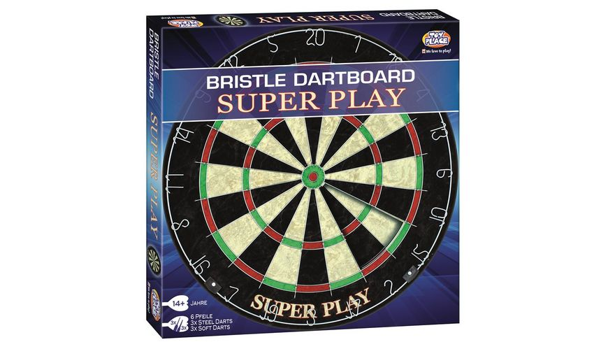 Mueller Toy Place Bristle Dart Board Super Play