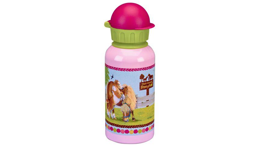 Die Spiegelburg Alu Trinkflasche Mein kleiner Ponyhof 0 4 l