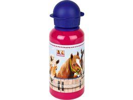 Die Spiegelburg Alu Trinkflasche Pferdefreunde 0 4 l