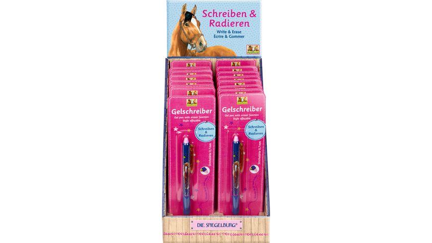 Die Spiegelburg Gelschreiber mit Radierfunktion Pferdefreunde