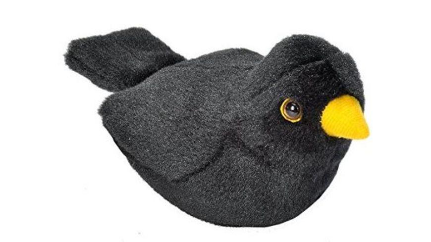 Wild Republic Plueschvogel Amsel mit Originalgesang 15 cm