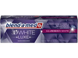 blend a med Zahncreme 3D White Luxe Glamorous White