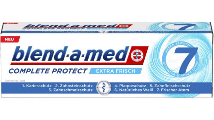 blend a med Zahncreme Complete Protect 7 extra frisch