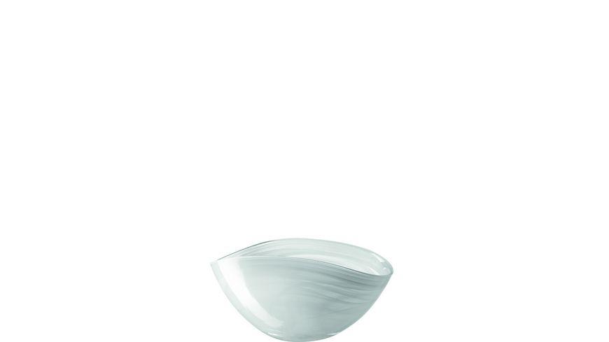 LEONARDO Schale Alabastro 20x12 cm weiss