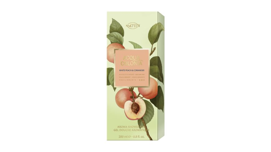 4711 ACQUA COLONIA WHITE PEACH CORIANDER Aroma Shower Gel
