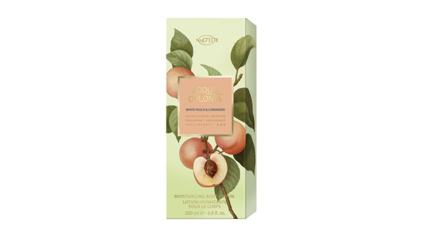 4711 ACQUA COLONIA WHITE PEACH CORIANDER Moisturizing Body Lotion