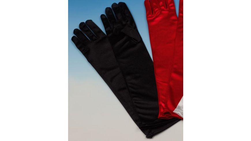 Andrea Moden Satin Handschuhe schwarz