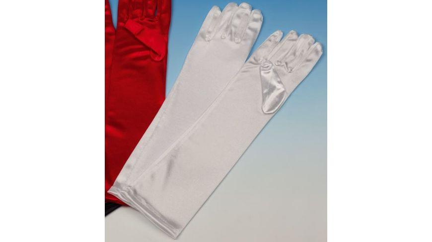 Andrea Moden Satin Handschuhe weiss