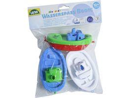 Lena 65470 Wasserspass Boote 3 er Set