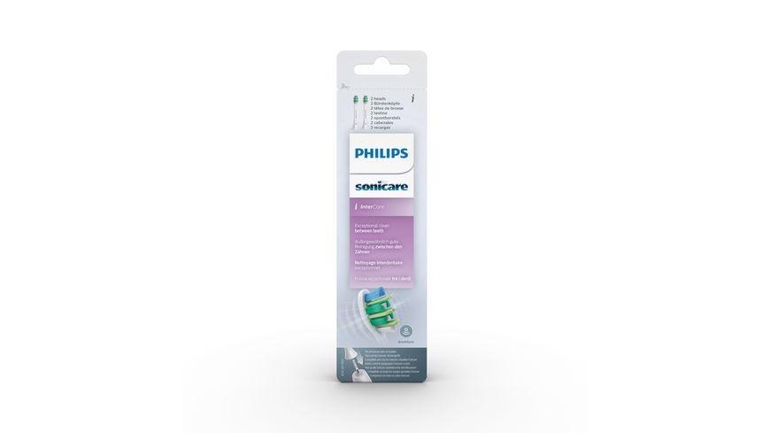 PHILIPS Ersatzbuerstenkoepfe Sonicare InterCare HX9002 07 2er Pack