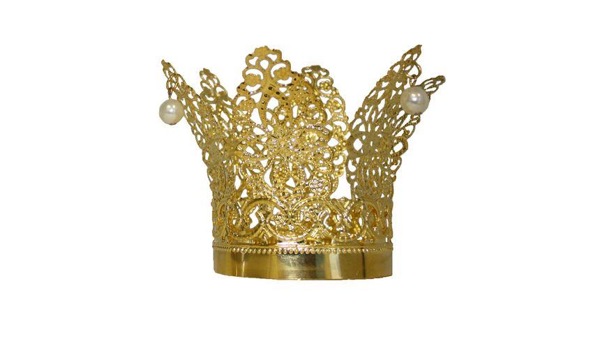 Rubies Krone mit Perlen gold