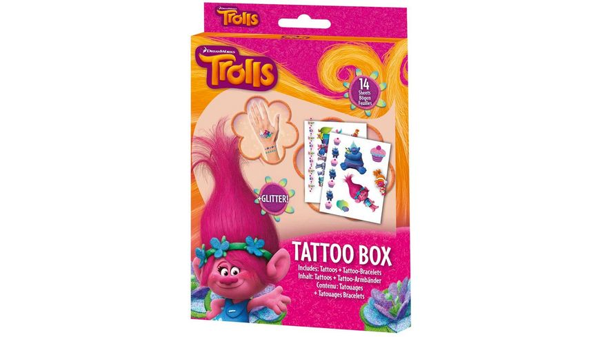 CRAZE Trolls Tattoo Box
