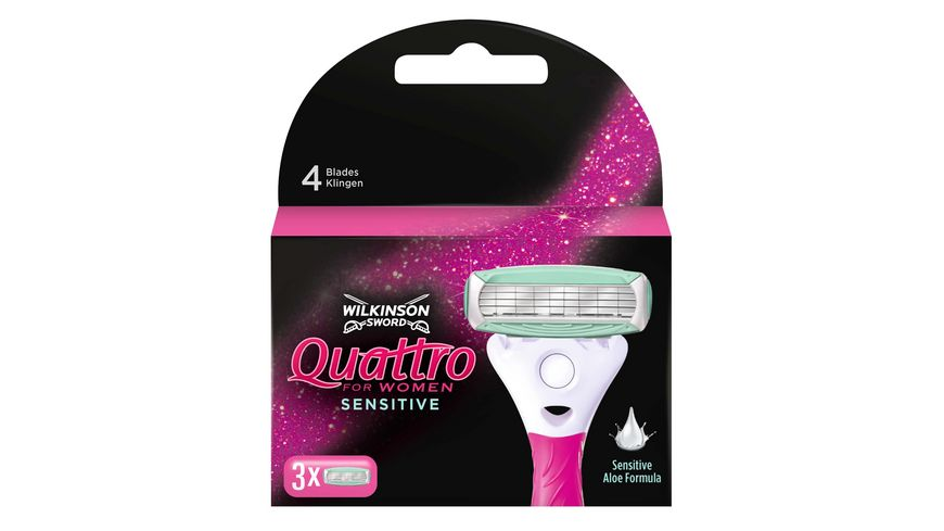 WILKINSON Sword Quattro for women Sensitive Rasierklingen