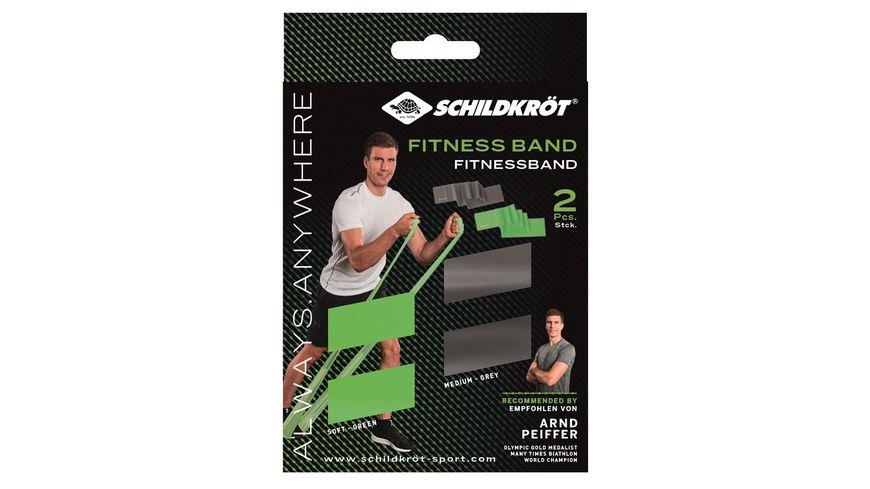 Schildkroet Fitness Fitnessbaender 2er Set Latexfrei Gruen Anthrazit