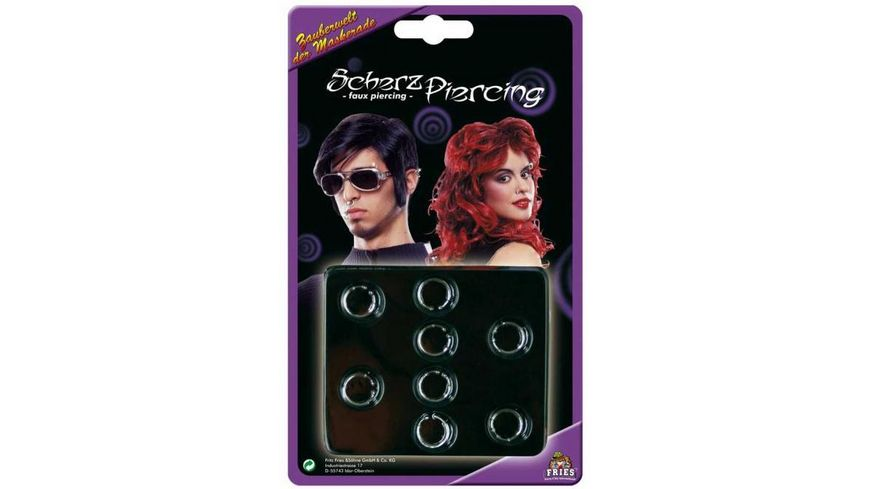 Fries Scherz Piercing Set mit 8 Stueck